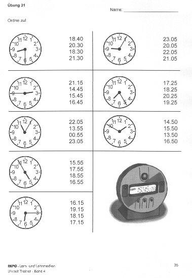 arbeitsblatt vorschule 187 englisch 252bungen uhrzeit